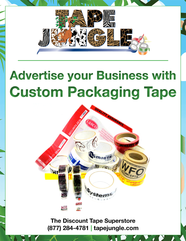Custom Printed Tape, Custom Printed Packaging Tape, Packaging Tape, Printed Kraft Tape, Printed Gummed Tape